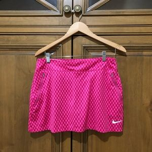 nike gingham flight skirt